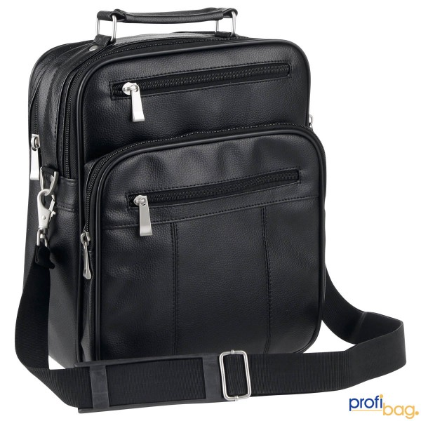 Vorderansicht D&N Travel Bags Flugumhänger 31 cm schwarz 2715